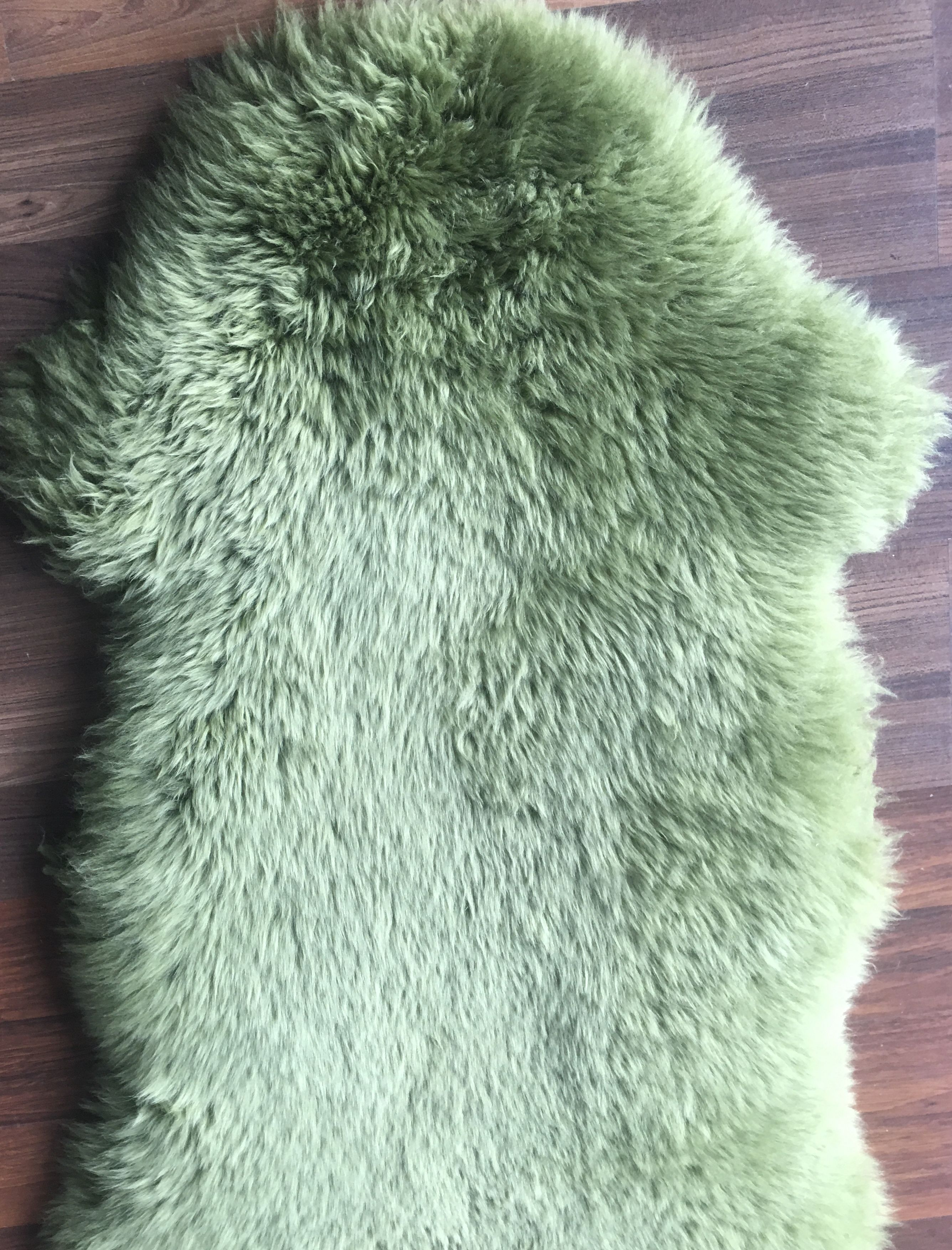 14 Large  Coloured Lambs Wool Green