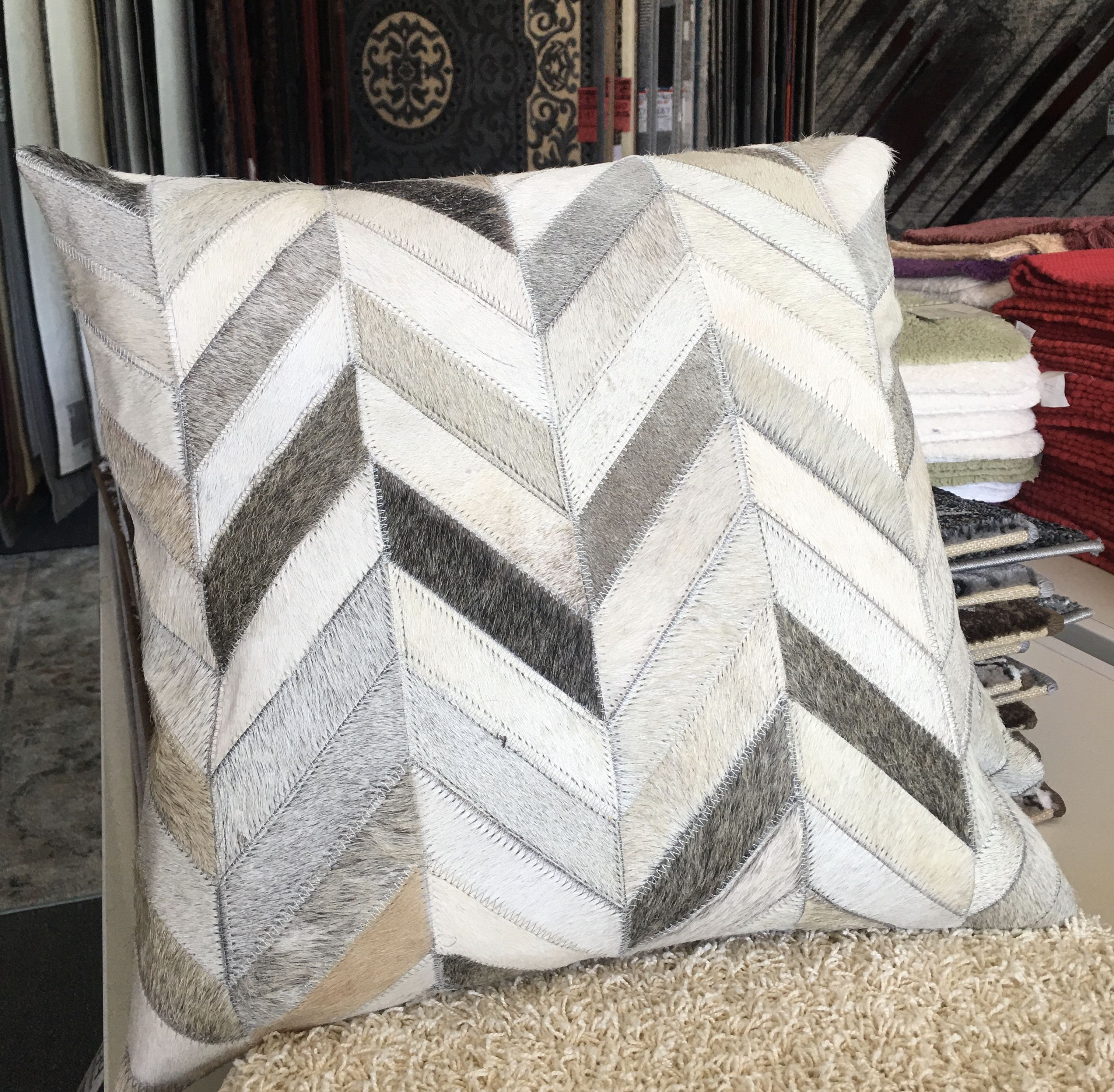 Leather Patchwork Cushion 2