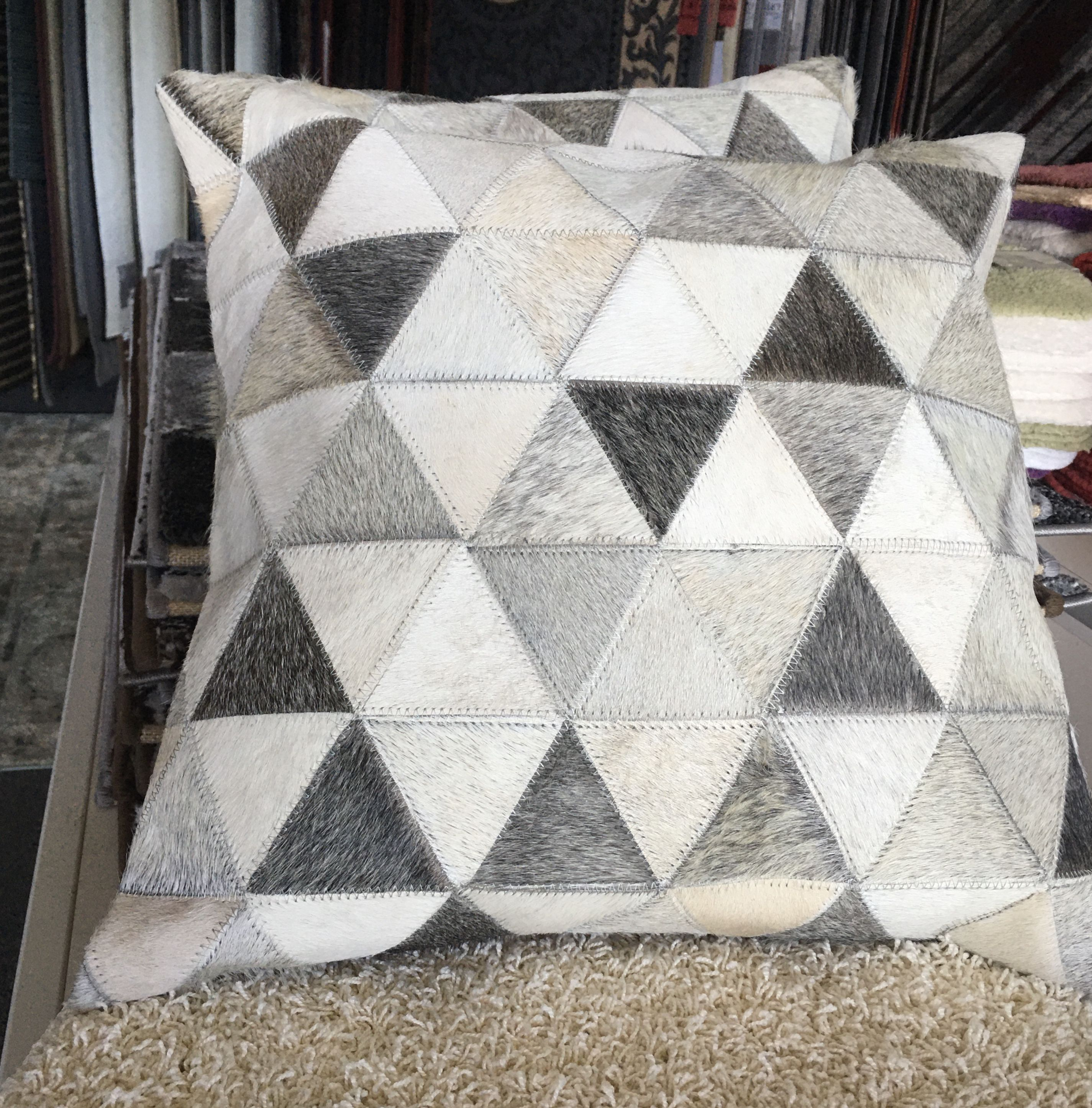 Leather Patchwork Cushion 3
