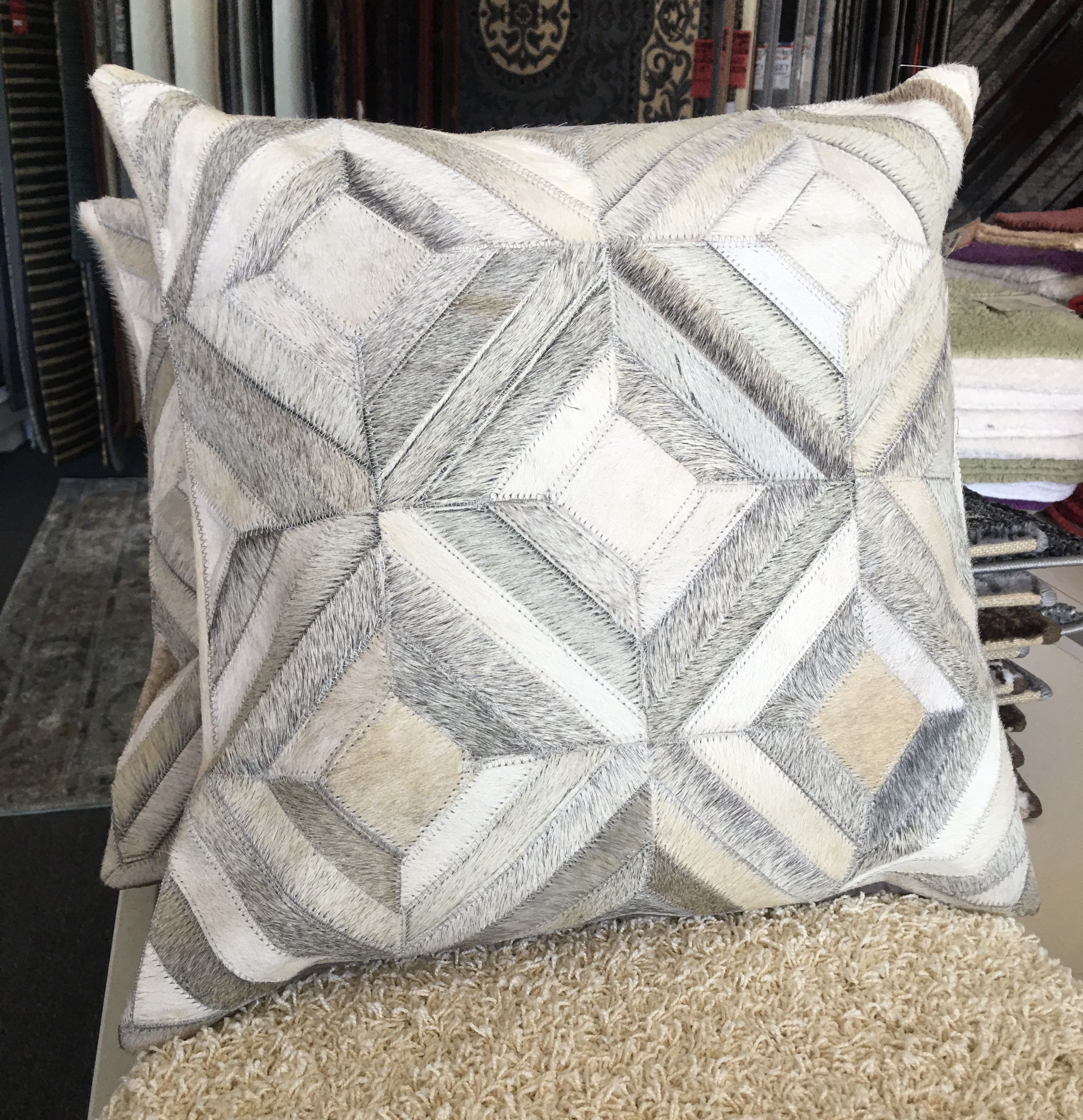 Leather Patchwork Cushion 8