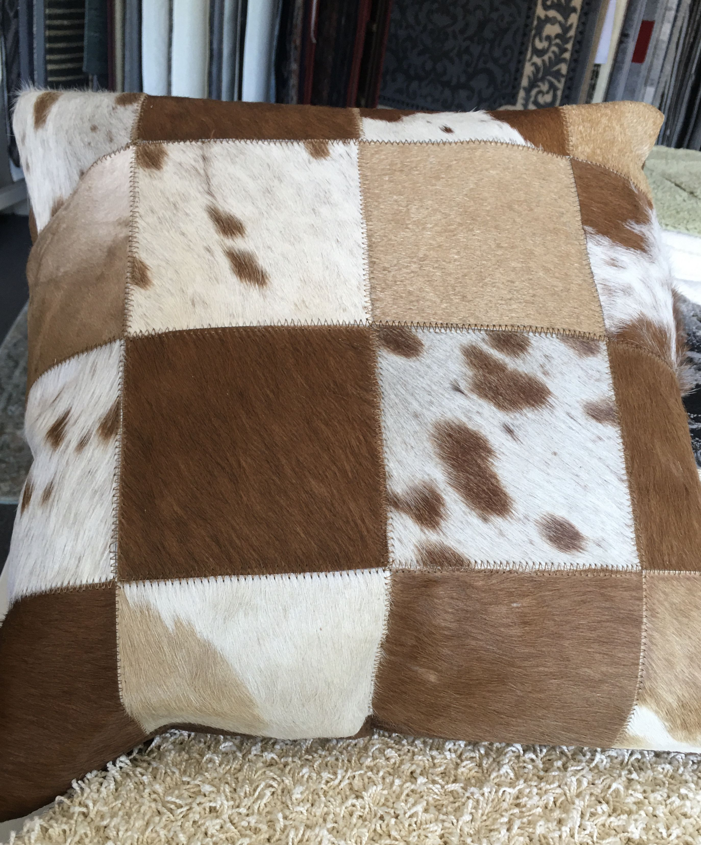 Leather Patchwork Cushion 9