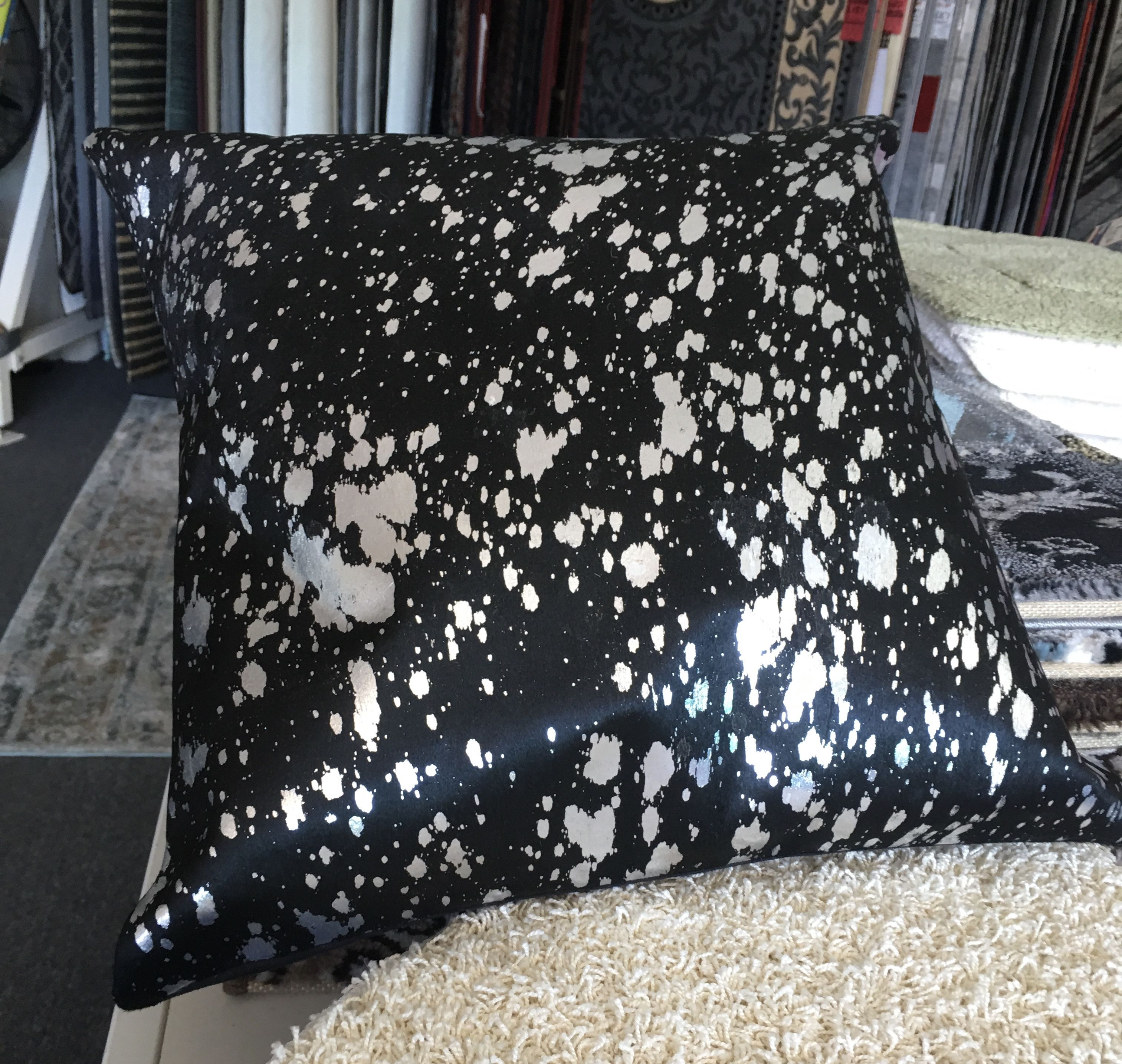 Leather Patchwork Cushion 10